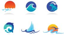 Logos con olas de colores