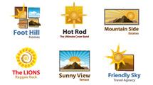 Logos con soles en seis modelos