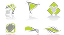 Logos gris y verde