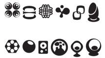 Logos negros simples