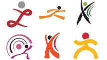 Logos simples relacionados al deporte