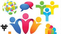 Logos variados mostrando gente conectada de algun modo