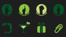 Logos verdes simples
