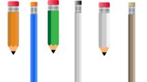 Lápices de colores en fila