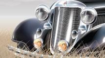 Lujoso automóvil antiguo