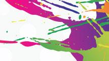 Manchas multicolores