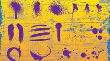 Manchas violetas grunge