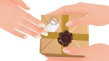 Manos entregan regalo