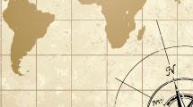 Mapa antiguo y rosa de los vientos