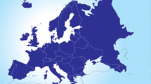 Mapa azul de Europa