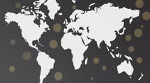 Mapa mundial: Diseño en gris oscuro