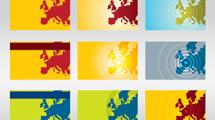 Mapas europeos a puro color