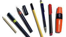 Marcadores, fibras y lapiceras de varios modelos