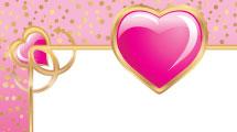 Marco con corazón rosa