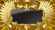 Marco dorado con negro