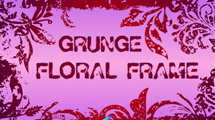 Marco grunge rosa