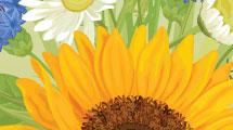 Marco ovalado floral