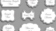 Marcos ornamentales blanco y negro