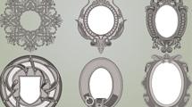 Marcos ornamentales en gris