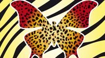 Mariposa con animal print
