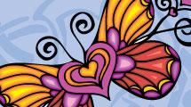 Mariposa con corazón