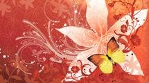 Mariposa floreada