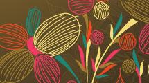 Marrón con flores