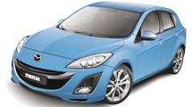 Mazda celeste con brillo