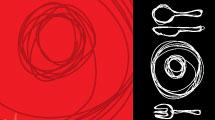 Menú en rojo y negro