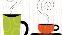 Mesas con café