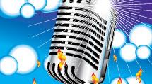 Micrófono plateado