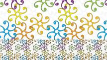 Motivo con flores abstractas para repetir