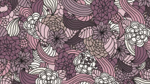 Motivo de flores violetas