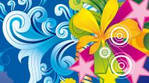 Motivo floral lleno de colores
