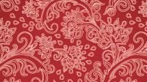 Motivo floral para repetir en rojo