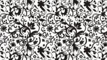 Motivo negro floral