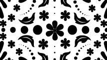 Motivos florales en negro con adornos