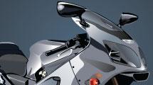 Motocicleta plateada