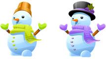 Muñecos de nieve vestidos
