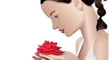 Mujer con Rosa