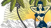 Mujer en isla