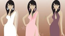 Mujeres con vestidos