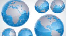 Mundos azules en 3D