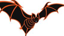 Murciélago de bordes naranjas