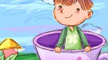Nene en taza rosada