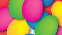 Nido con huevos de Pascua