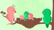 Nido con recién nacidos