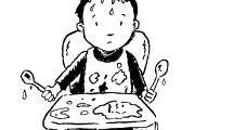Niño a la hora de comer
