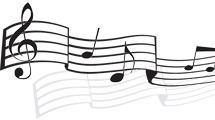 Notas musicales con reflejo