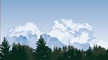 Nubes sobre el bosque